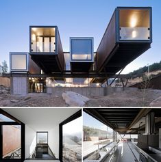 Plans To Design And Build A Container Home - 20 Cool As Hell Shipping Container Homes - Caterpillar House. Who Else Wants Simple Step-By-Step Plans To Design And Build A Container Home From Scratch? Container Architecture, Container Home Designs, Shipping Container Buildings, Shipping Container Homes, Shipping Containers, Cantilever Architecture, Architecture Design, Architecture Interiors, Conex Box