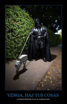 Sacando a pasear a tu @mascota ( #starwars #darthvader #atat