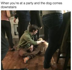 Every time! Who else spends the party petting and talking to the host's dog?? #dogs #doglovers