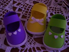 Modelos de zapatitos de bebe en goma eva