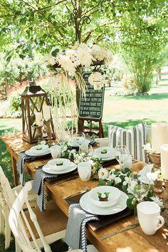 Rustic wedding ideas: outdoor rustic wedding table decor ideas