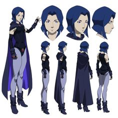 """charactermodel: """" Raven by by Phil Bourassa [ Justice League vs Teen Titans ] """""""