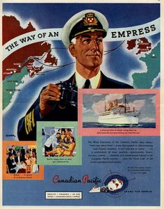 Vintage Canadian Pacific Ad - 1947