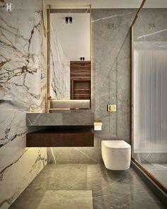 Beautiful Interior Design, Contemporary Interior Design, Modern Contemporary, Modern Bathroom Design, Bathroom Interior Design, Classic Toilets, Wc Design, Design Ideas, Dyi