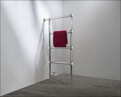 Luxury side mounted bathroom heated towel rail - Designed to stand side-on to the wall. This traditional ball jointed towel warmer is made in the UK. Bathroom Towel Rails, Towel Radiator, Bathroom Renovations, Bathrooms, Towel Warmer, Heated Towel Rail, Copper And Brass, Central Heating, Space Saving