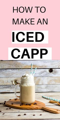 I love Iced capps and have mastered a delicious copy recipe! Learn how to make an iced Capp at home that tastes just lik. Cappuccino Recipe, Iced Cappuccino, Iced Latte, Iced Coffee, Coffee Art, Coffee Break, Coffee Drinks, Morning Coffee, Summer Drinks Kids