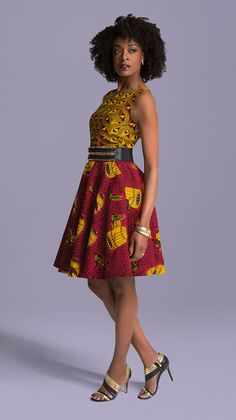 African mixed print short dress, african clothing, african dress, the african shop, african wedding African Dresses For Women, African Print Dresses, African Attire, African Wear, African Fashion Dresses, African Women, African Prints, African Clothes, African Outfits
