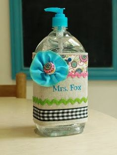 personalized sanitizer bottle wrap