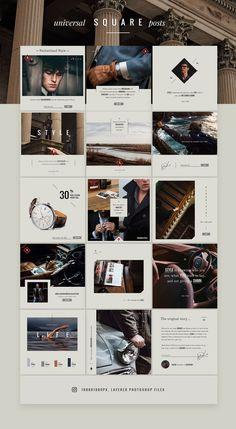 ASTON Luxury Lifestyle Brand von NordWood im Kreativmarkt - luxus Instagram Design, Instagram Feed Layout, Instagram Grid, Insta Instagram, Instagram Lifestyle, Instagram Story, Instagram Posts, Fashion Logo Design, Web Design