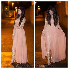 Pink and Golden Pakistani Fashion Mode Bollywood, Bollywood Fashion, Pakistani Outfits, Indian Outfits, Emo Outfits, Indian Attire, Indian Wear, Party Kleidung, Look Formal
