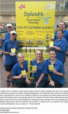 Safe Product cleans algae in outdoor ponds and fish tanks Outdoor Ponds, Virginia Homes, Fish Tanks, Sick, Cleaning, Aquariums, Home Cleaning