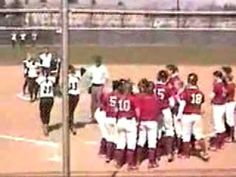 Sara Tucholsky - An Inspiring Softball Story - she hit the ball over the fence, but then tore her ACL when she turned back to tag first base.  Her team was not allowed to help her score her home run, so two girl from the opposing team carried her around the bases.