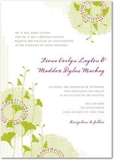Signature White Wedding Invitations - Graceful Ginkgo by Wedding Paper Divas