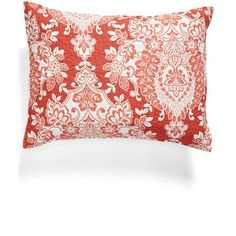 Levtex 'Triomphe' Sham (€26) ❤ liked on Polyvore featuring home, bed & bath, bedding, bed accessories, coral, quilted bedding, quilted shams, coral shams, coral bedding and coral pillow shams