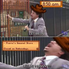 Video game memes 793266921845318825 - Stardew Valley Source by Otacooll Video Game Memes, Video Games, Chernobyl, Stardew Valley Tips, Stardew Valley Farms, Stardew Valley Fanart, Funny Memes, Hilarious, Funny Logic