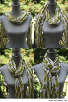 Tie your scarf like this, it's awesome (no for this scarf)