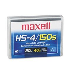 Data Cartridge - 150m, 20GB Native/40GB Compressed Data Capacity(sold in packs of 3) by Maxell. $39.38. Data Cartridge - 150m,  20GB Native/40GB Compressed Data Capacity(sold in packs of 3)