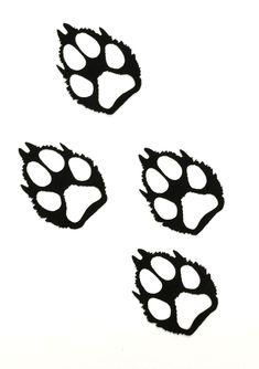 wolf paw print clip art - Google Search