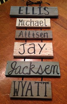 Vintage family name sign by pouroutlove on Etsy, $60.00