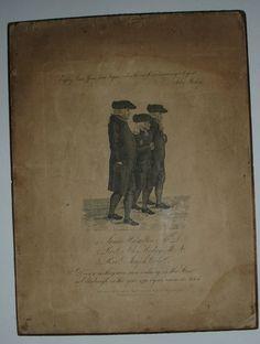 ENGRAVING of Rev JOHN WESLEY, JAMES HAMILTON & Rev JOSEPH COLE laid on wood. Engraved by Charles Seymour 74 High St Birmingham