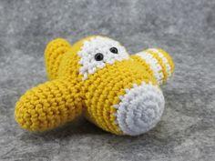 Crochet pattern toy airplane amigurumi tutorial by ByMarika