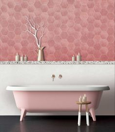 Decor Decor apartment Decor diy Decor elegant Decor ideas Decor ideas colors Decor ideas small Decor master Decor modern Decor pink Bathroom Decor Bathroom Decor Bathroom Decor Bathroom Decor pink Tap into the pink trend with these gorgeous tiles Pink Bathtub, Pink Bathroom Tiles, Pink Tiles, Bathroom Colors, Modern Bathroom, Small Bathroom, Boho Bathroom, Master Bathroom, Pink Bathrooms
