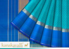 "Inspired by the woven patterns on the ""Pai"", or the traditional Indian mat, the exemplary finesse of our Kanchipuram weavers shines through in this blue #Kanjivaram. Let this captivating #Kanakavalli envelop you in its enduring charm."
