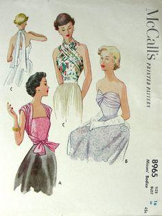 Drafting. Infinity top1950s. Vintage top McCall's 8965