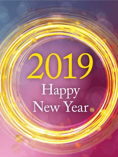 golden circle happy new year card 2019 birthday greeting cards by davia