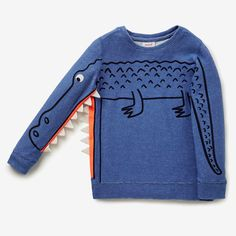 Novelty Sleeve Sweater NIAGARA BLUE