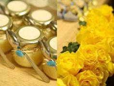 Docinho chá de bebê brigadeiro em potinho flores mesa de doces  (Doce: Brigaderia   Foto: Kit Gaion)