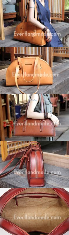 Handmade handbag bag shopper purse leather bag shoulder bag women