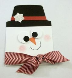 Snowman Gift Card Holder Tutorial available for $1.00