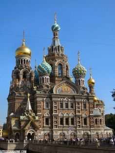 Also known as Church of the Savior on Spilled Blood and the Cathedral of the Resurrection of Christ, this beautiful church can be found in At. Petersburg, Russia.