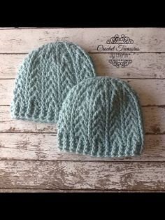 "Textured beanie using ""We Are Knitters"" Petite Wool in aquamarine"