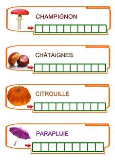 Apprendre à écrire des mots à la maternelle Fall Preschool, Preschool Kindergarten, Word Work Centers, Learning To Write, French Lessons, Teaching French, Home Schooling, Homeschool Curriculum, Kids And Parenting