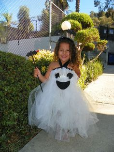 Halloween Kids Costume Ghost Tutu DressGhost Tutu
