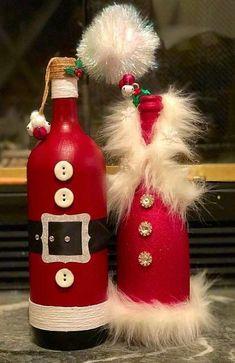 23 Ideas For Craft Christmas Diy Wine Bottle Diy Wine Bottle Crafts diy wine bottle crafts Glass Bottle Crafts, Wine Bottle Art, Painted Wine Bottles, Diy Bottle, Decorated Wine Bottles, Empty Bottles, Wine Bottles Decor, Wine Bottle Decorations, Bottle Labels