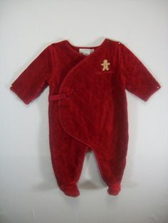 JANIE AND JACK First Christmas Gingerbread Boy Quilted Romper Size 3-6 Months #JanieandJack #Holiday