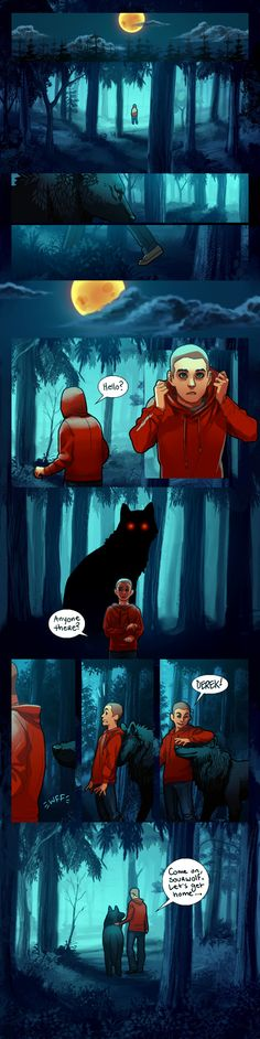Full Moon. and cuteness. I just... sterek... i love them...