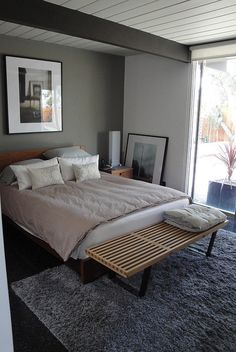 master bedroom from an Eichler home. #midcentury #designpublic