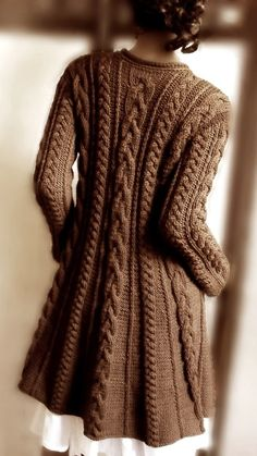 Mocha Knitted Cardigan | fall style.