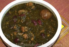 Ghormeh Sabzi (persian Herb Stew) With Stewing Beef, Canola Oil, Onions, Crushed Tomatoes, Ground Turmeric, Dried Lime, Water, Salt, Pepper, Red Kidney Beans, Herbs