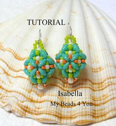 PDF Tutorial Beadwoven Earrings SuperDuo Tutorial by mybeads4you, $8.00