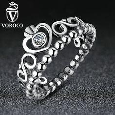 Authentische 925 Sterling Silber Meine Prinzessin Königin Krone Ring Design Hochzeit Ringe Für Frauen Schmuck A7204