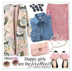 """""""Newchic"""" by teoecar ❤ liked on Polyvore featuring Bionda Castana, Linda Farrow, women's clothing, women's fashion, women, female, woman, misses and juniors"""