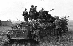 German 1st SS flakpanzer gepard 38t, anti-aircraft gun.