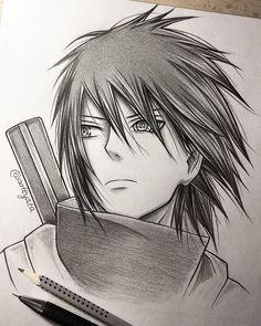 Sasuke - by Naruto Naruto Kakashi, Anime Naruto, Fan Art Naruto, Naruto Shippuden Sasuke, Otaku Anime, Manga Anime, Sakura Kakashi, Sasuke Drawing, Naruto Drawings