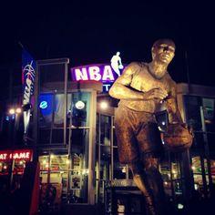 Outside the NBA Basketball store at Universal City Walk, Orlando, Florida USA!