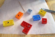 Magneettoepassingen (Neodymium magneten) - Legostenen magnetiseren - supermagnete